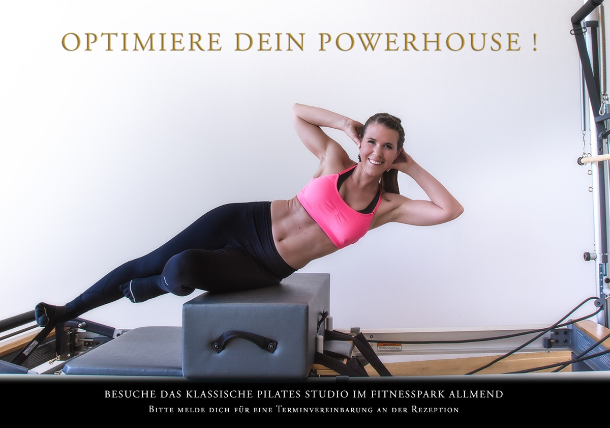 Classical Pilates Photography Project for Fitnesspark Allmend Lucerne