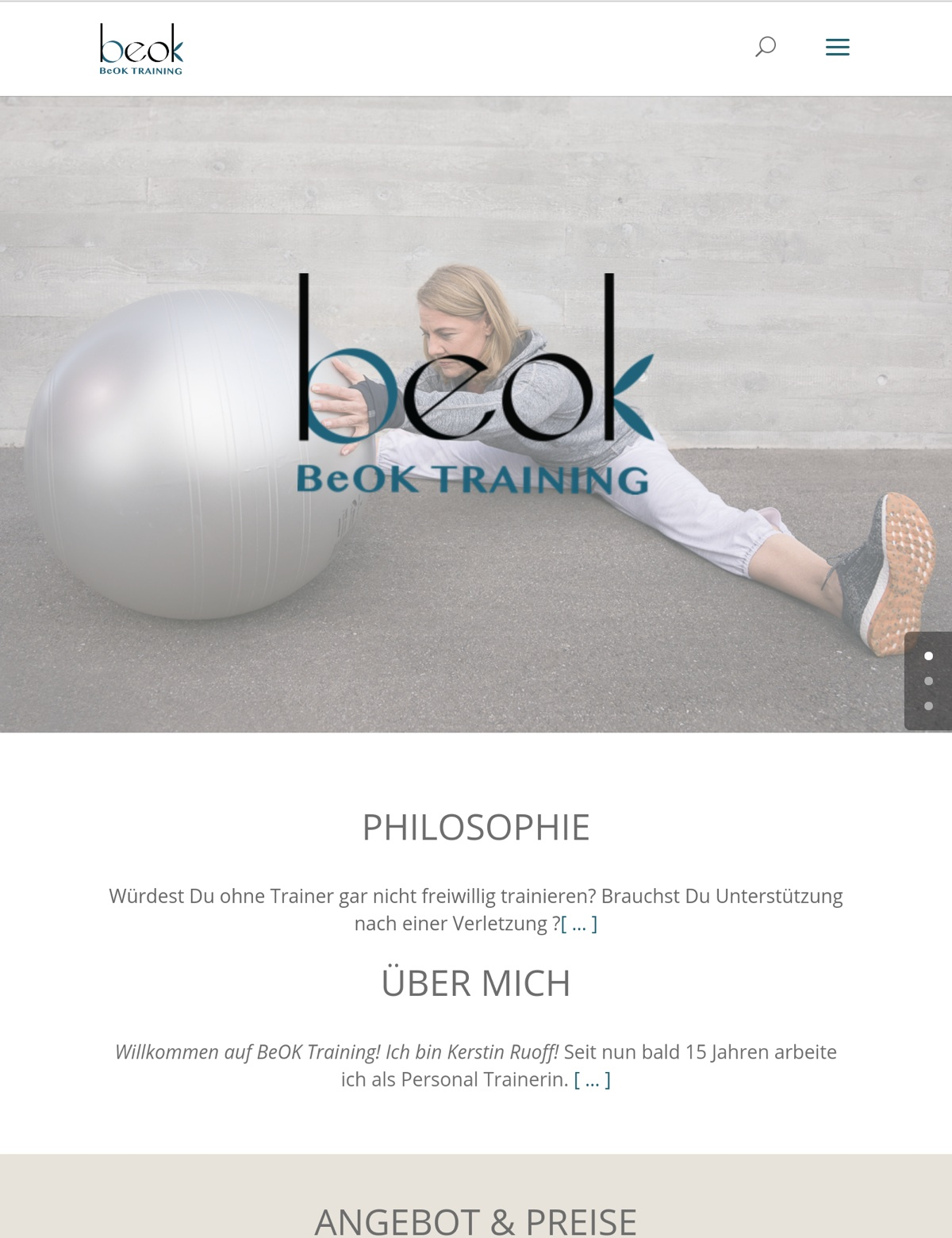 BeOK Training Branding and Website by Social52.ch