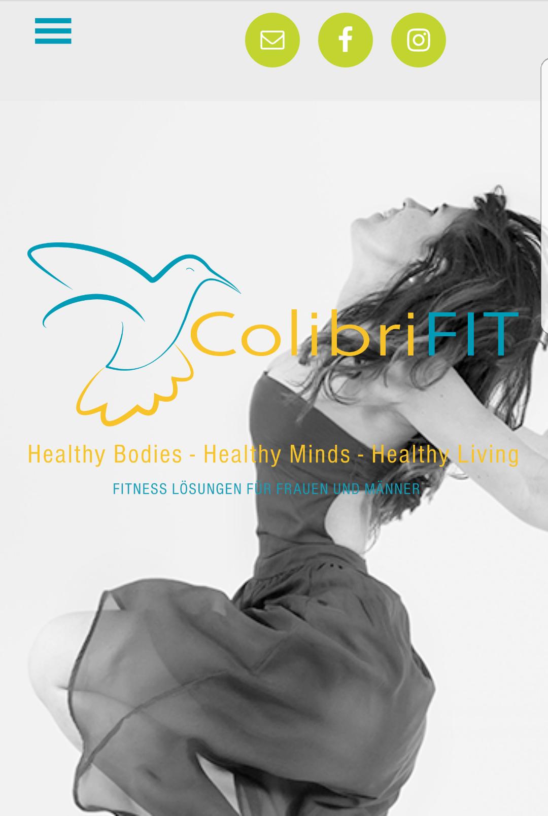 ColibriFIT Website Design by Social52.ch